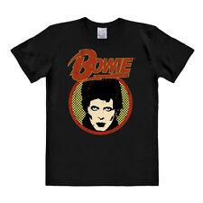 Rock - Pop - UK - Legende - David Bowie - Portrait T-Shirt - schwarz - LOGOSHIRT