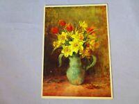 Vintage Postcard Doffodils and Tulips, Walter Classen, Zurich No. 4149