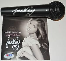 Jackie Evancho Autograph Signed CD Booklet and Microphone Bundle PSA/DNA COA