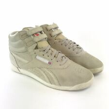 Reebok Classic Freestyle High Top Spirit UK6 Beige Suede Trainers Shoes V60552