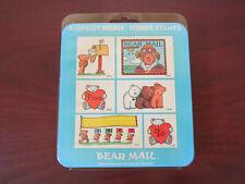 All Night Media Bear Mail Foam Mounted Rubber Stamp Kit ~ Vintage ~ Teddy Bears