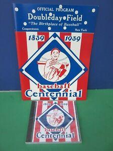 BASEBALL CENTENNIAL 1839-1939 Program DOUBLEDAY Field Cooperstown with CD
