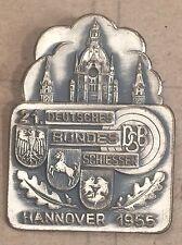 ABZEICHEN SCHÜTZEN 21. BUNDESSCHIESSEN HANNOVER 1955