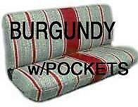 Truck Bench Seat Cover Saddle Blanket, BURGUNDY 1pc Full Size Ford, Chevy, Dodge