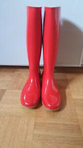 Gummistiefel mit Absatz von Phönix High Heels Boots Stiefel Gr. 36 RAR Vintage