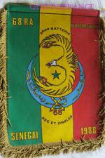 petit FANION souvenir du 68° REGIMENT D'ARTILLERIE 3° BATTERIE - SENEGAL 1988