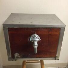 Vintage Beer Dispenser Cooler Tap Wood Copper Bar Box