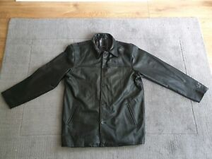 Microsoft Mens Black Genuine Leather Smart Jacket New without Tag Size XL