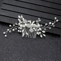 Fashion Handmade Crystal Pearl Hair Comb Hairclip Hairpin Wedding Hair Jewelry
