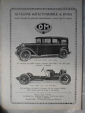 1929 OM SPORT MILLE MIGLIA SALONE AUTO DI ROMA PUBBLICITA ADVERTISING REKLAME