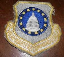 vintage HEADQUARTERS COMMAND USAF PATCH wow US AIR FORCE vietnam WASHINGTON DC