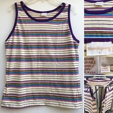 80f4727d917ebd Vintage Munsingwear 70s Striped Tank Top Combed Cotton Made In USA L