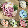 9 Head Artificial Fake Rose Silk Flowers Bridal Bouquet Wedding Party Decor
