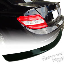 Stock in LA!For Mercedes BENZ W204 A Style Rear Trunk Spoiler 040 Black Painted