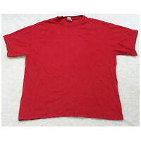 Simply For Sports Red Cotton Man's Crewneck Short Sleeve Tee T-Shirt Top Large