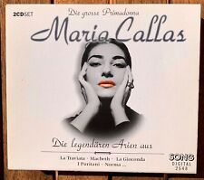 "2 CD MARIA CALLAS - ""Die legendären Arien"" TOP Album!"