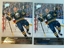 2015-16 Upper Deck Young Guns Jack Eichel 2 Card Lot
