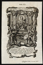 santino incisione 1700 S.CECILIA V.M.   klauber