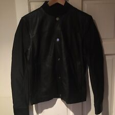 """Calvin Klein Black Lamb Leather Bomber Bomber Jacket Medium 40"""" NEW WITH TAGS"""