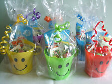 30 Filled Vegetarian Unisex Smiley Cup Party Bag Favour- All Ready To Hand Out!