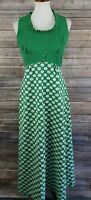 Vintage Union Made Women's 14 Sleeveless Polka Dots Casual Maxi Dress