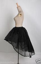 2016 Lolita Burlesque Victorian Skirt Steampunk Black Lace VAMPIRE Underskirt Q1