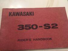 KAWASAKI  S2 350 1972 TRIPLE  OEM. OWNERS MANUAL NICE SHAPE