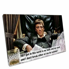 "Print on Canvas quote American gangster Tony Montana Scarface Wall Art 30""x20"""