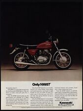 1976 KAWASAKI KZ400 Special Red Motorcycle VINTAGE AD