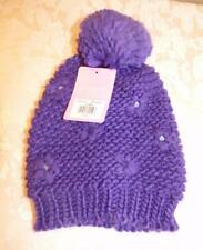 Berkshire Fashions Little Girls Knit Beanie Cold Weather Hat, Purple One Size