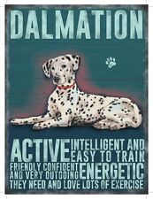 Retro Mini Metal Dalmation Dog Saying Sign Hanging Decoration 6.5x9cm