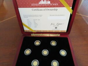 2006 $5 Mysterious Places of the World Gold 7 Coin Set