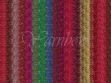 NORO ::Taiyo #72:: cotton silk wool yarn Reds-Green-Blue-Yellow