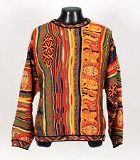 Tribal COOGI Crewneck Sweater - Snakes, Kangaroos - L Large