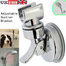 Universal Shower Head Handset Strong Suction Holder Chrome Mounted Bathroom Wall