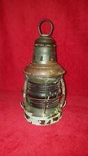 """*Antique* Red Nautical Lantern 12"""" - Copper"""