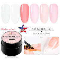 6 Boxes/set MEET ACROSS Poly Extension Soak Off UV Gel Nail Polish Fast Extended