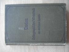 Duden Orthographische Wörterbuch Deutsch (Achte 8. Auflage 1908 Leipzig Wien)