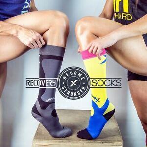 Compression Socks Knee High for Mens / Womens Training Athletes  23~33 mmHg