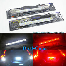 2x Dual-Color White/Red 30-SMD LED Lamps For License Plate,Backup,Brake Lights