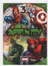 2015 Marvel 3-D affinity A-10 Hand to Hand Spider-man Cap America Iron Fist DD
