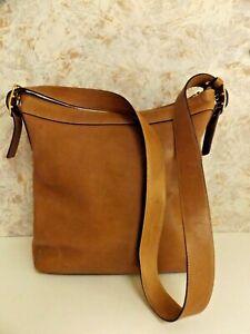 Vintage Coach Tan Leather Shoulder Bucket Bag