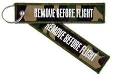 REMOVE BEFORE FLIGHT Camouflage Schlüsselanhänger Keyring Anhänger militär