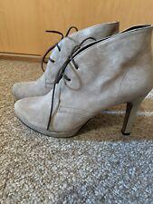 Paul Green Munchen Ladies Beige Ankle Boots Size UK 4/ EU 37