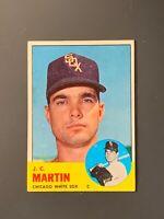 1963 Topps #499 J.C. Martin High number VGEX-EX Chicago White Sox