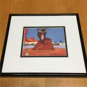 Looney Tunes Animation Cel 100% Authentic Wiley Coyote Road Runner