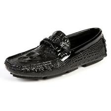 Mens Slip On Casual Driving Outdoor Alligator Print Loafers Moccasin Boat Shoes