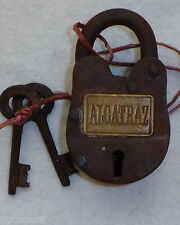 CAST IRON ALCATRAZ GATE LOCK AND KEYS