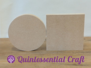 Circle Square 6 9 12 18mm thick MDF wooden shape 10,15,20,30,40,50,60cm in size