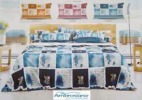 AMBROSIANA Quick. Completo letto, Lenzuola 100% Cotone - SHADES. Made in Italy